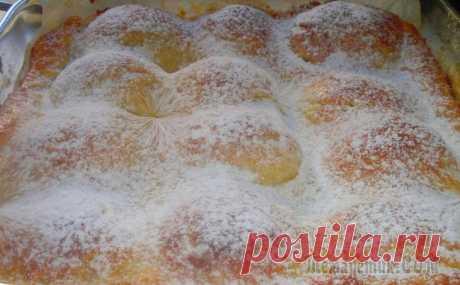 Песочно-творожный пирог «яблочный бархан»
