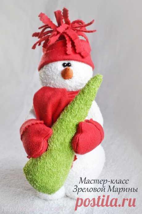 Как сшить игрушку «Снеговик»