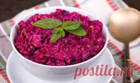 Вкусный салат из свеклы — на радость детям и взрослым | Город поваров