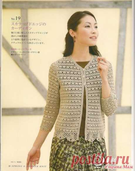 Jacket a hook - All in openwork... (knitting by a hook) - the Country of Mothers