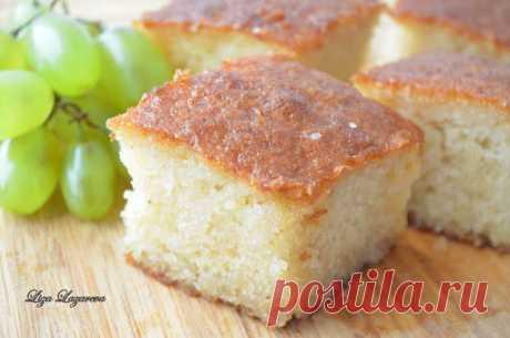 MY FOOD или проверено Лизой: Ревани - сочный турецкий кекс. Автор: Елизавета Лазарева