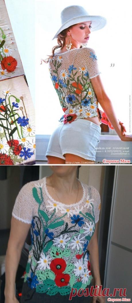 La blusa veraniega - la Labor de punto - el País de las Mamás