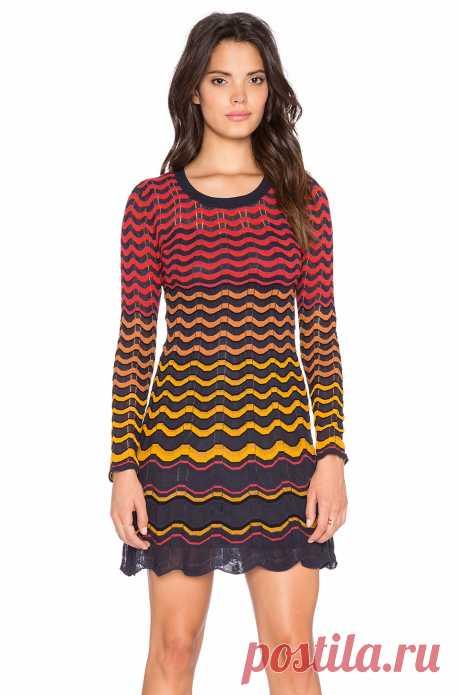Красивое платье в стиле Миссони