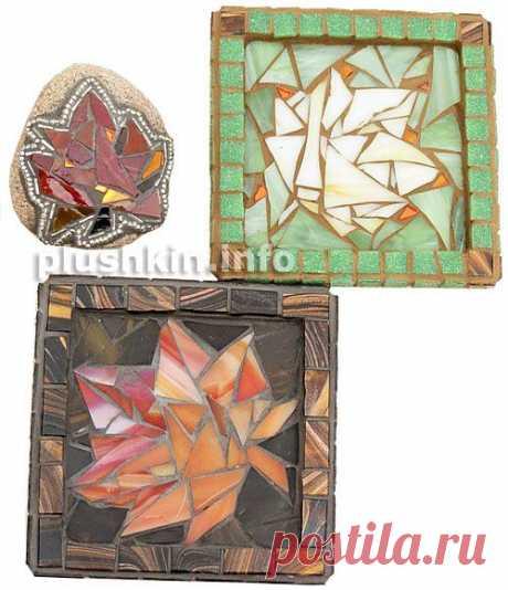 Три новые мозаики с кленовыми листочками