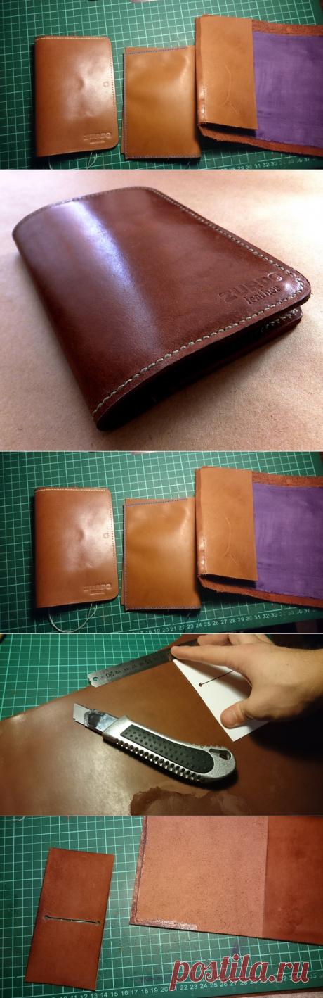 Делаем обложку для паспорта из кожи своими руками