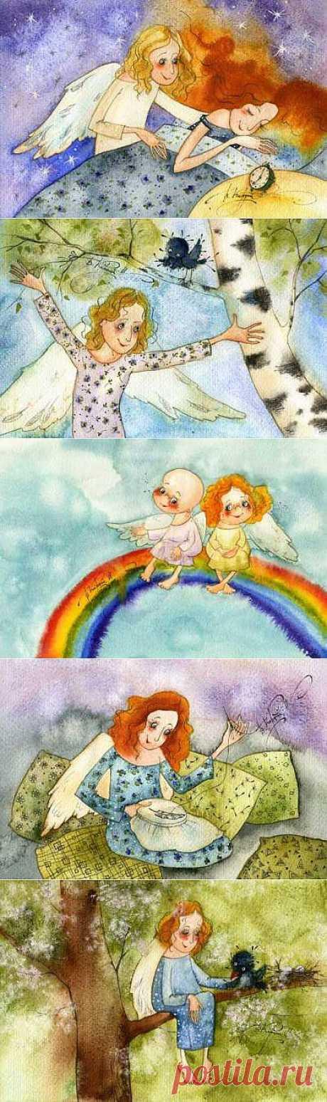 Ангелы Виктории Кирдий - Галерея искусств - Для души - Статьи - Школа радости