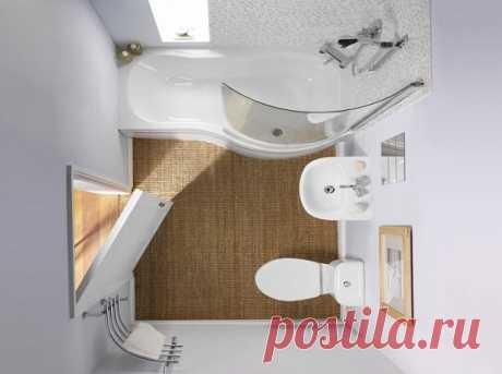 25 precepts of the correct registration of a small bathroom!