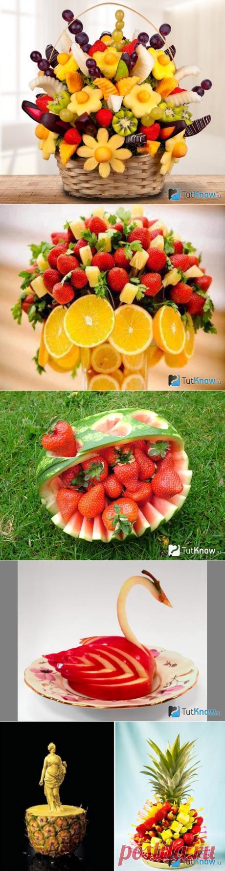 Карвинг из фруктов: виды поделок и пошаговая инструкция