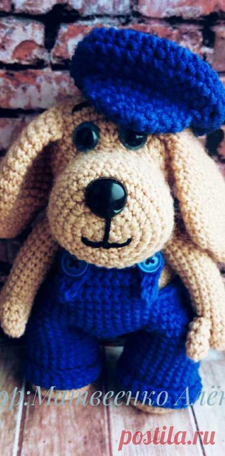 PDF Пёсик крючком. FREE crochet pattern; Аmigurumi doll patterns. Амигуруми схемы и описания на русском. Вязаные игрушки и поделки своими руками  #amimore - Собака, пёс, собачка, щенок, пёсик, dog, puppy, cachorro, perro, cachorrinho, chien, hund, welpe, pies, koira, koer, psa. Amigurumi doll pattern free; amigurumi patterns; amigurumi crochet; amigurumi crochet patterns; amigurumi patterns free; amigurumi today.