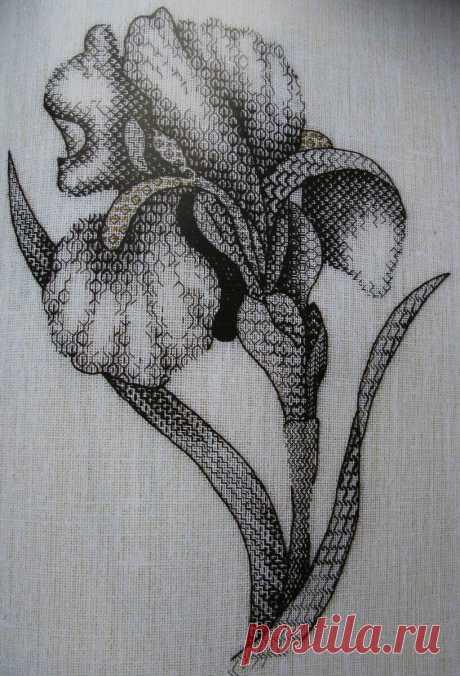 Направление в вышивке Blackwork: красота всего в одном цвете! | Вышивка is Love | Яндекс Дзен
