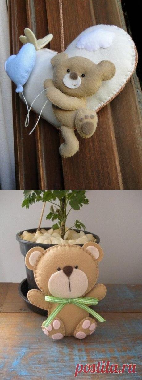 Выкройки для мишки. Текстильные игрушки своими руками выкройки | Домоводство для всей семьи.