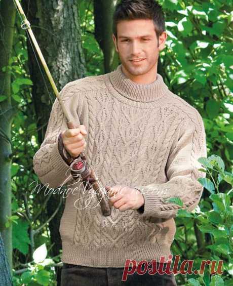 Мужской свитер с ирландскими узорами - Modnoe Vyazanie ru.com