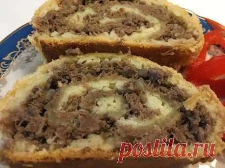 МАИНА.Вкусно и сытно!Beef and pasta strudel