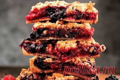 Дом Вкуса - Рецепты для всех - Тертый ягодный пирог от Елизаветы Глинской