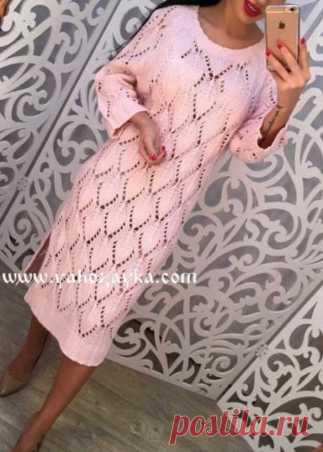 Узор для платья спицами. Нежный узор спицами для вязания женского платья Узор для платья спицами. Нежный узор спицами для вязания женского платья