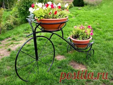 Цветочный велосипед. Идеи декора для сада. ~ ALL-DEKOR