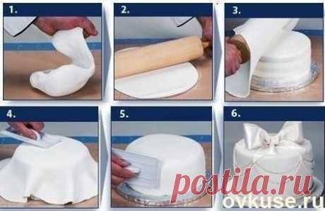 Как сделать КРАСИВЕЙШУЮ мастику для торта своими руками 4 рецепта. - Простые рецепты Овкусе.ру