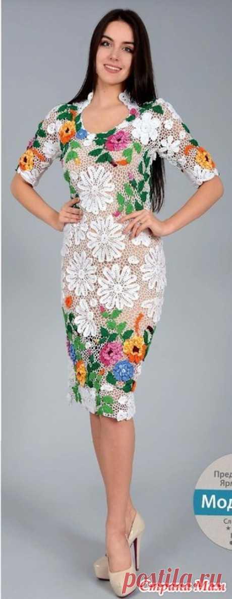 Волшебные цветы. Белое ажурное платье. - Все в ажуре... (вязание крючком) - Страна Мам