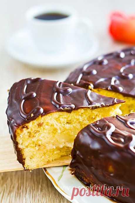 """Торт 'Чародейка' / Простой рецепт хорошего настроения/ В основе торта - бисквитные коржи, смазанные заварным кремом и покрытые шоколадной глазурью. Этот десерт - истинное наслаждение для сладкоежек. Могу сказать однозначно - домашний торт """"Чародейка"""" гораздо вкуснее магазинного."""