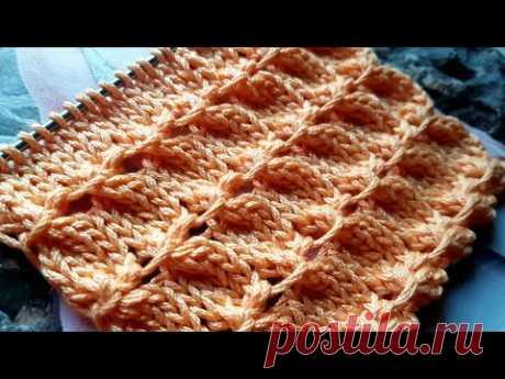 Есть вариант, как связать рельефные буфы спицами 🤗 knitting pattern.