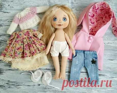 Текстильная кукла с выкройкой + выкройки одежды