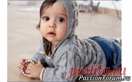Детский жакет спицами. Описание - запись пользователя Молодая бабуля (Светлана) в сообществе Вязание спицами в категории Вязание спицами для детей Источник