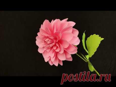 ABC TV | How To Make Dahlia Paper Flower - Craft Tutorial