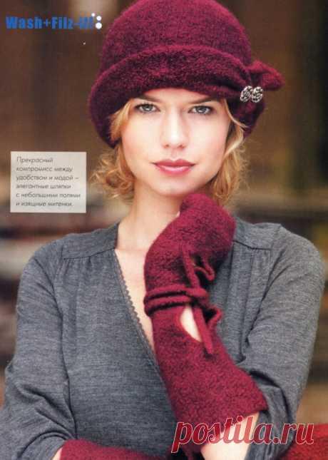 Удобно и тепло: Вязаные манжеты, митенки и шляпки — Рукоделие
