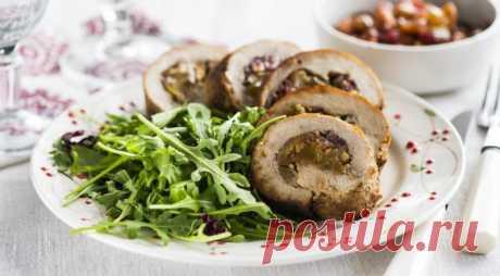 Рулет со свининой и яблоками — Sloosh – кулинарные рецепты