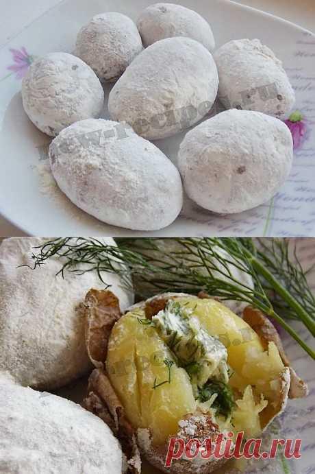 Картошка печенная рецепт в микроволновке за 10 минут!