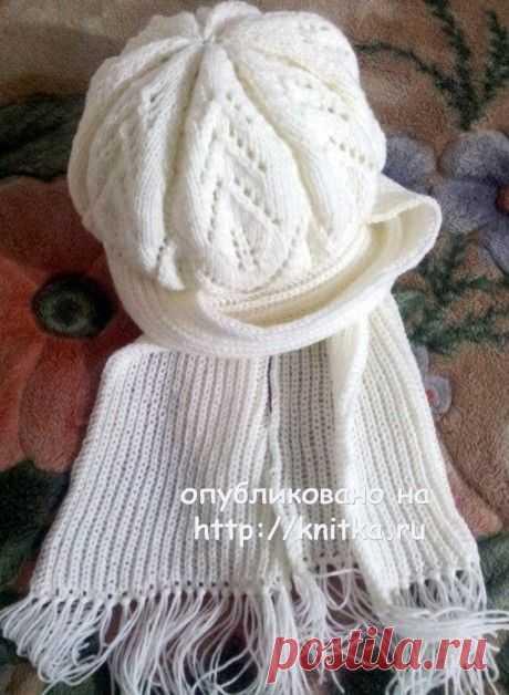 Берет и шарф спицами. Работы Валентины, Вязание для женщин