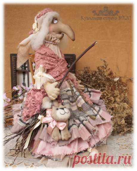 Выкройка текстильной бабы яги - Мастер-класс, изготовление. Куклы из капроновых чулок и