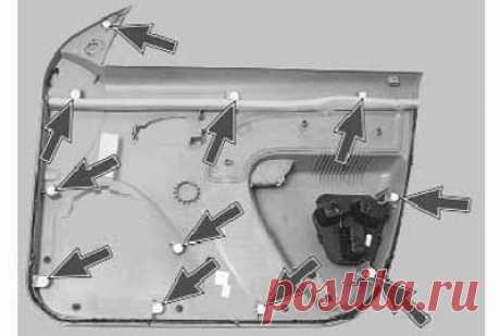 Как снять и установить обивку передней двери на рено логан - Ремонт Авто
