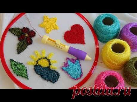 PUNCH NAKIŞI NASIL YAPILIR? - PÜF NOKTALARI NEDİR? - How To Make Punch Needle - DIY Embroidery