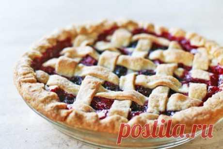 Пирог фруктовый из слоеного теста с яблоками и грушами - Сладкие пироги и кексы