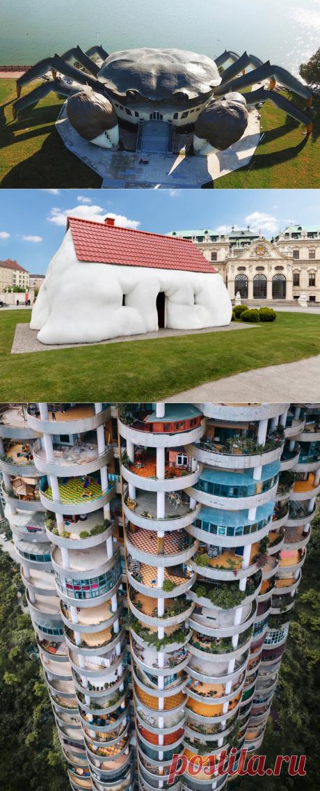 Дома необычный архитектуры   ФОТО НОВОСТИ