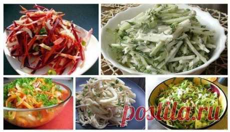 9 лучших салатов на каждый день. | Готовим вместе