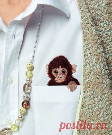 Вышивка обезьянки — Мастер-классы на BurdaStyle.ru