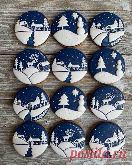Изумительные рождественские пряники от gingerhoney.vrn (инстаграм)