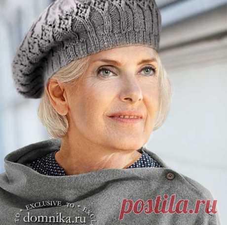 Вязаные береты для женщин 60 лет - 5 моделей на осень для пожилых