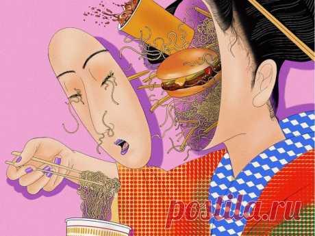 На грани реальности и галлюцинации: психоделические иллюстрации Мики Ким Мики Ким – известная художница и мастер тату. Она работает в психоделической манере, а ее необычные иллюстрации соединяют популярные элементы разных