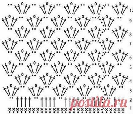 Летняя юбка филейным узором. Схема юбки филейным узором | Вязание для всей семьи
