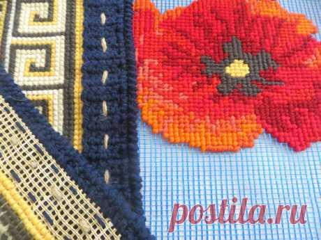 ЛАЙФХАК по вышивке: Строительная сетка вместо канвы, или Как уменьшить затраты на материалы в вышивке