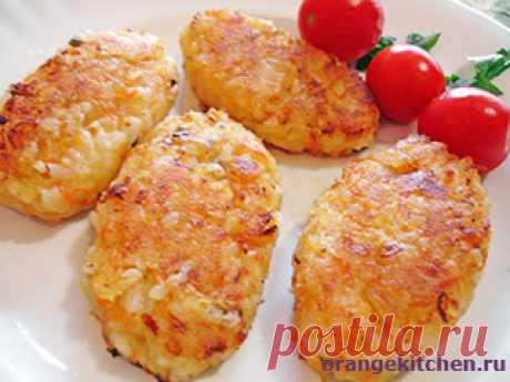 Постные рисовые котлеты - Вегетарианские рецепты Оранжевой кухни