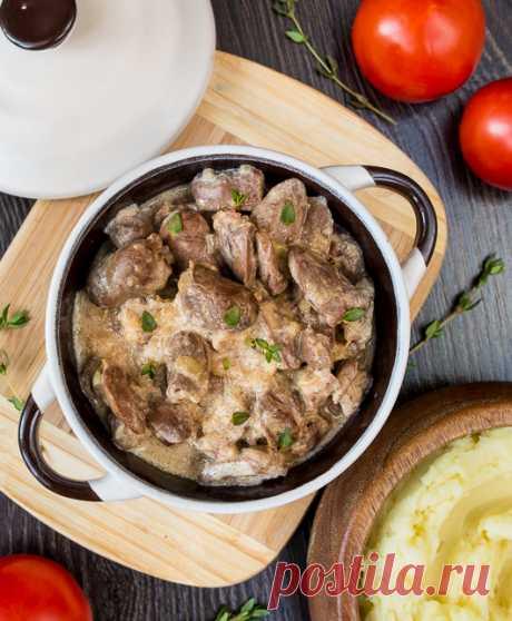 Куриные сердечки в луковом соусе   Вкусный блог - рецепты под настроение
