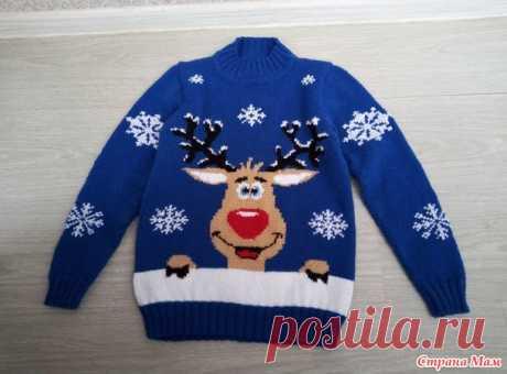 Еще один свитер с оленем. - Вязание - Страна Мам