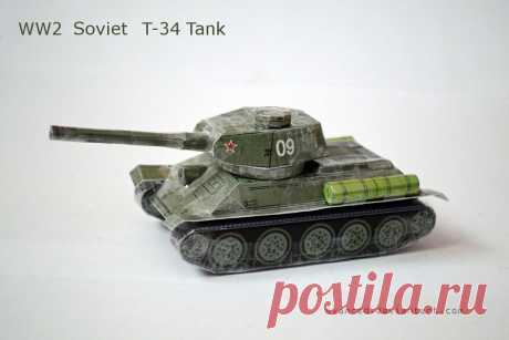[REQ] WW2 Soviet T-34 Tank Papercraft 1 +DOWNLOAD A small papercraft I've made for this awesome tank.It's the model found here: prmodels.webnode.cz/products/t… However,that's a 1:100 scale model and has 5cm in length.What I did is that I do...