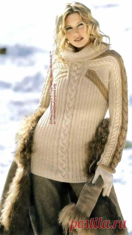 Построение чертежа для вязанного пуловера с рукавом реглан ...