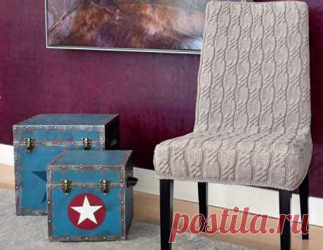 Чехол на кресло - делаем мебель еще уютнее! из категории Интересные идеи – Вязаные идеи, идеи для вязания