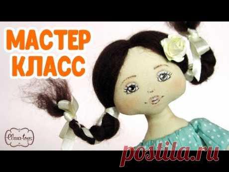 Как сшить куколку с нарисованным лицом.  Мастер-класс по пошиву куклы от начала до конца.
